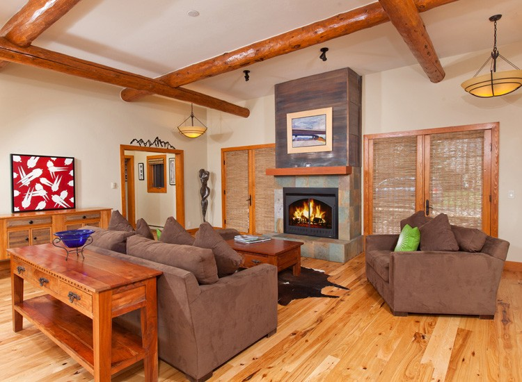 the old garage was converted into a new great room living space