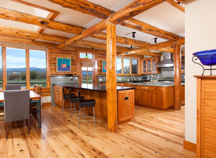 Open Floor Plans Log Cabin Pictures To Pin On Pinterest